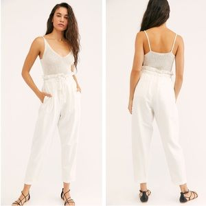 Free People Margate Pleated Trouser Pant M NEW